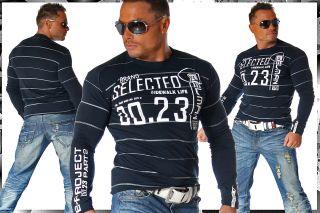 MeGaTrenDy ClubWeaR SweAT LongSleeve Shirt Gr M 867 DUNKELBLAU
