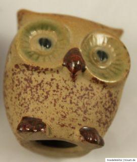 Keramik Eule Eulen Uhu Kauz Nachtvogel nicht gemarkt 5 und 4 cm hoch