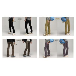 CASUAL MENS STRAIGHT CHINO PANTS SLIM FIT 1327