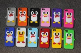Lovely Black Penguin Silicone Soft Case Cover For Apple iPhone 5 5th