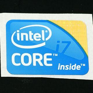 Intel Core™ i7 Aufkleber / Sticker für PCs Groß
