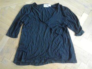 Damen T Shirt schwarz Gr. 40/42 vpon Maxime mit halbarm