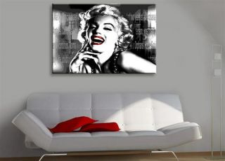 Kunstdruck Marilyn Monroe Keilrahmenbild Poster auf Leinwand Bild