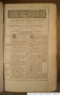 1590 Biblia graeca latina Novum Testamentum Bible Bibel Schweinsleder