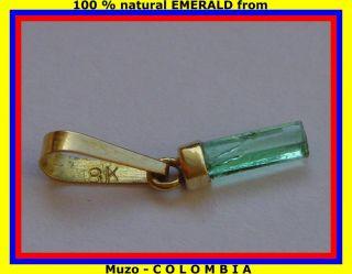 kolumbianischer SMARAGD ANHÄNGER Glücksbringer 18kt GOLD 750 edel