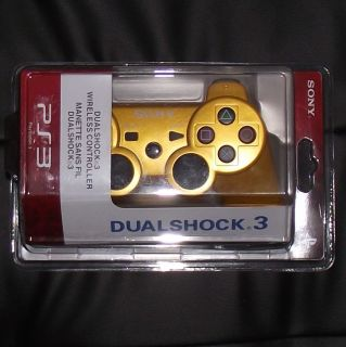 Gold Wireless Bluetooth Controller for Sony PS3  UGD01