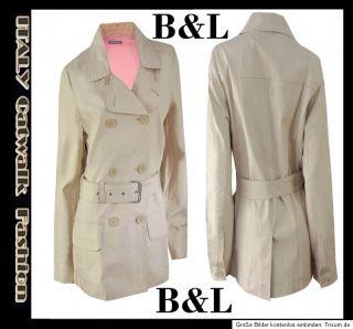 NEU Luxus Damen Designer 36 38 40 42 Trenchcoat Jacke Kurz Mantel