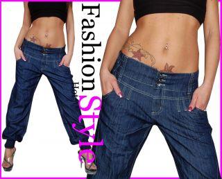 Baggy Pluder Harem Aladin Pump Jeans Hose XS 34   XL 42