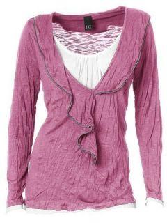 Damen Crincle Shirt B.C.  women himbeere Gr. 34