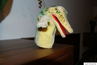 Steiff Handpuppe Krokodil Gaty Knopf Fahne 317,00