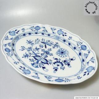 Meissen Zwiebelmuster große Fleischplatte Platte 41 x 29 x 5 cm