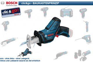 BOSCH Clic & Go 10,8 V Akkuschrauber Säbelsäge GSA GSR GSB GOP GWI