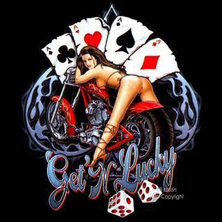 Biker Motiv Harley Custom Bike Chopper Pin Up Rockabilly T Shirt neu