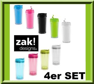 ZAK THERMOBECHER 4er SET COFFEE MUG ISOLIERBECHER TRINKBECHER TO GO