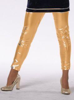 Leggings de luxe gold Glamour Tanz Disco Damen Hose