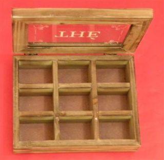 Teebox THÈ Teebeutelbox aus Holz Tee Box Teekiste 9 Fächer