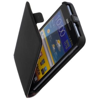 Leder Flip Style Case Etui black f Samsung Galaxy Note N7000 i9220