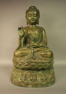 Amogasiddhi Buddha Statue Bronze Tibet, Figur Buddhismus Skulptur