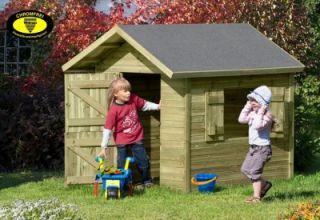 Kinder Spielhaus Marie aus Holz Gartenhaus für Kinder Gartenpirat_de