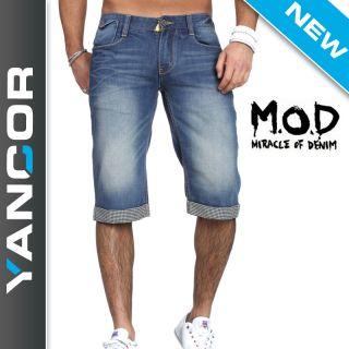 MOD Herren Jeans Shorts Bermuda Arizona blau