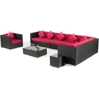 polyrattan sofaset gartenm bel lounge sofa braun. Black Bedroom Furniture Sets. Home Design Ideas