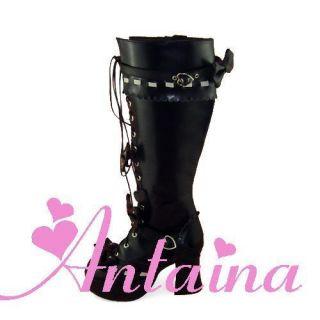 weiß blau rot schwarz lolita stiefel boots shoes Schuhe nana süß