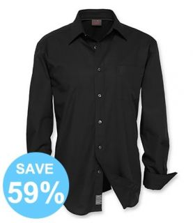 D8 New ESPRIT Mens Regular Fit Shirt Plain Black Long Sleeve