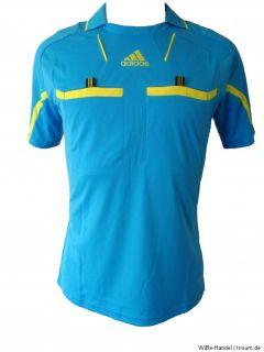 Adidas Schiedsrichter Trikot blau kurzarm   Gr. S, M, L, XL