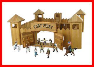 931 0520 D6 Drewart Western Fort Festung Indianer Cowboy Westernstadt