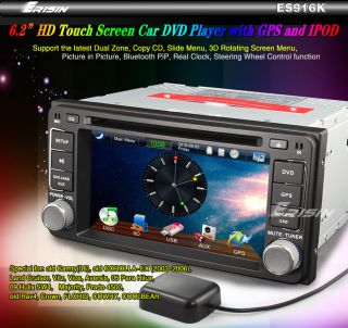 ES916EN 6.2 HD CAR DVD USB SD PLAYER GPS TV IPOD TOYOTA COROLLA CROWN