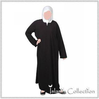Einfache Abaya   Schwarz   Jilbab Hijab Islamische Kleidung 16 3001