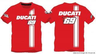 DUCATI Corse NICKY HAYDEN KINDER T Shirt # 69 Moto GP KIDS rot NEU