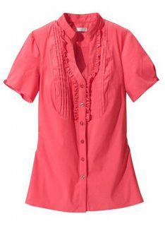 Bluse mit Rüschen von CHEER Gr. 34 36 38 46 Top Shirt Hemd neu