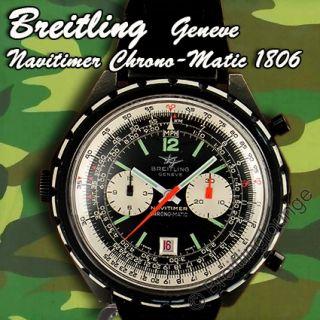 BREITLING Uhr Navitimer Black Steel Chrono Matic 1806 aus 1969 *große
