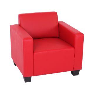 Modular Sofa Couch System Lyon, Kunstleder rot