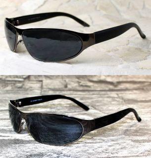 coole Herren Sport Sonnenbrille schwarz blau verspiegelt schmal Viper