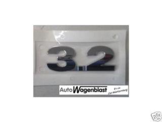 VW Original 3.2 Schriftzug Emblem Volkswagen Eos Golf