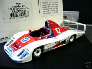 PORSCHE 936 / 79 Le Mans #12 Essex Ickx Redman Crash 1979 Trofeu 143