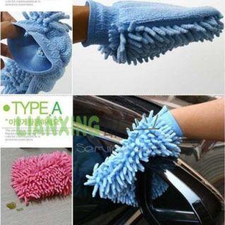 Microfiber Car Home Floor Clean Cleaning Cleaner Glove Mitt Wash Cloth