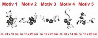 E94 Blume Blüte Ranke Briefkasten Sticker Aufkleber NEU