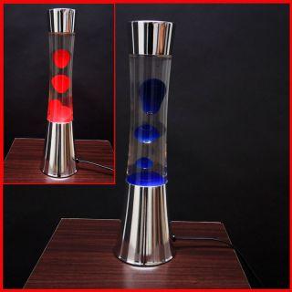 Lavalampe Lavaleuchte, 40 cm in der Farbe rot/blau