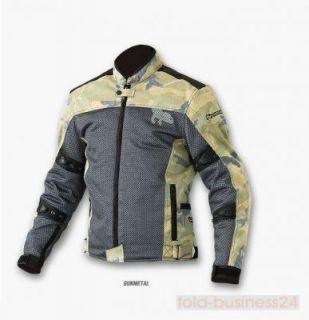 Komine Protect Vintage Camo Motorrad   Jacke