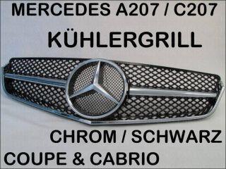 MERCEDES W207 A207 C207 COUPE/CABRIO KÜHLERGRILL CHROM SCHWARZ GRILL
