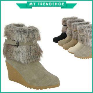 Keilabsatz Stiefel Stiefelette 95050 Damen Schuhe 36 41