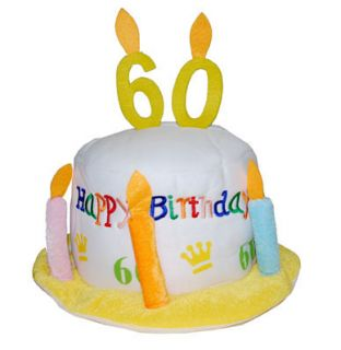 Happy Birthday Hut 60. Geburtstag Party Dekoration Jahrestag Hochzeit