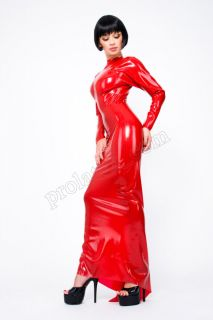 Langes Latex Gummi Kleid Abendkleid von LATEXA Rubber Dress Gr.S XXL
