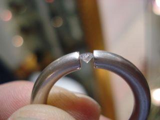 Feiner Ring 950 Platin Brillant Solitär ca. 15,5 Gramm Bague Platine
