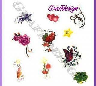One Stroke Sticker   Tattoo   freie Auswahl   Teil 4