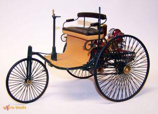 Altes Franklin Mint Modellauto; 1886 Benz Patent Motorwagen; M 1/8