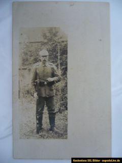 orig.Foto, AK, Soldat mit Sturmgepäck und aufgepfkanzten Seitengewehr